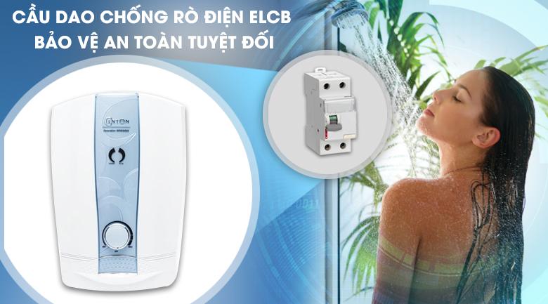 Cầu dao chống rò điện ELCB - Máy nước nóng Centon 8998E 4.5 kW