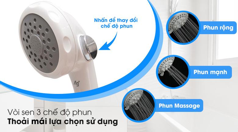3 chế độ phun - Máy nước nóng Panasonic DH-4MP1VW 4.5 kW