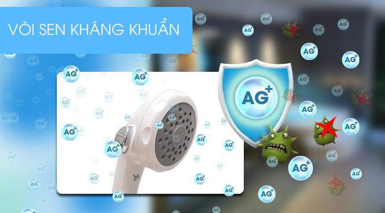 Vòi sen có tính kháng khuẩn ion Ag+ - Máy nước nóng Panasonic DH-4MP1VW 4.5 kW