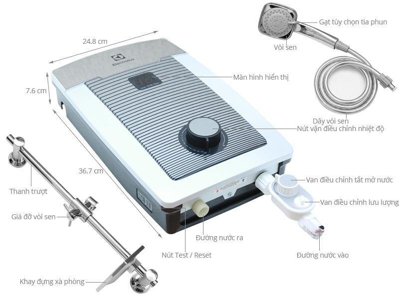 Thông số kỹ thuật Máy nước nóng Electrolux EWE351TX-DCC2 3500 W