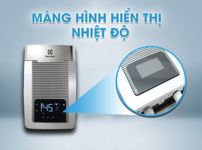 àn hình hiển thị LCD và điều khiển chạm giúp cài đặt nhiệt độ nhanh chóng
