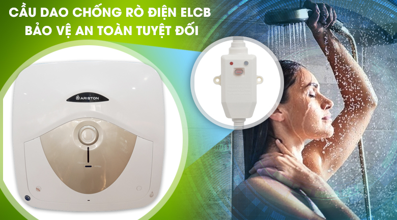 Cầu dao chống rò điện ELCB - Bình nóng lạnh Ariston 30 lít AN 30 RS MT