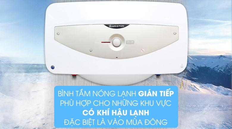 Cơ chế làm nóng gián tiếp - Bình tắm nóng lạnh Ariston SL 30 QH FE - MT 30 lít