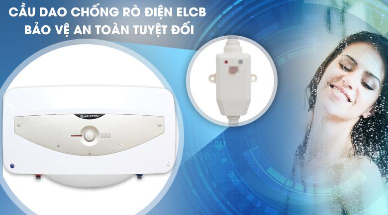 Cầu giao ELCB - Bình tắm nóng lạnh Ariston SL 30 QH FE - MT 30 lít
