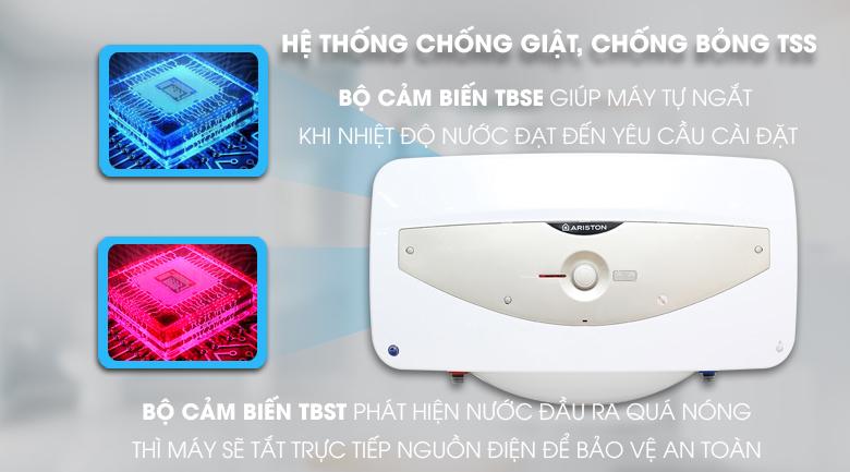 Hệ thống chống bỏng TSS - Bình tắm nóng lạnh Ariston SL 30 QH FE - MT 30 lít