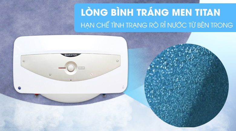 Lòng bình tráng men Titan - Bình tắm nóng lạnh Ariston SL 30 QH FE - MT 30 lít