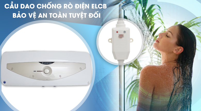 Cầu dao chống giật điện ELCB - Bình nóng lạnh Ariston 20 lít SL 20 MT