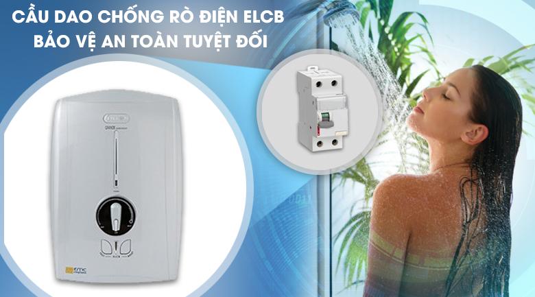 Cầu dao chống rò điện ELCB - Máy nước nóng Centon GD600ESP RS