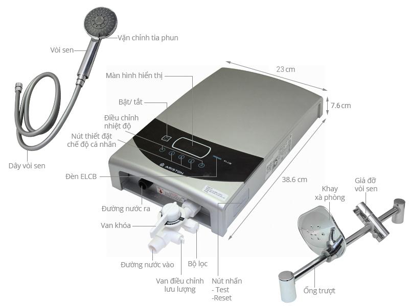 Thông số kỹ thuật Máy nước nóng Ariston ST45PE-VN