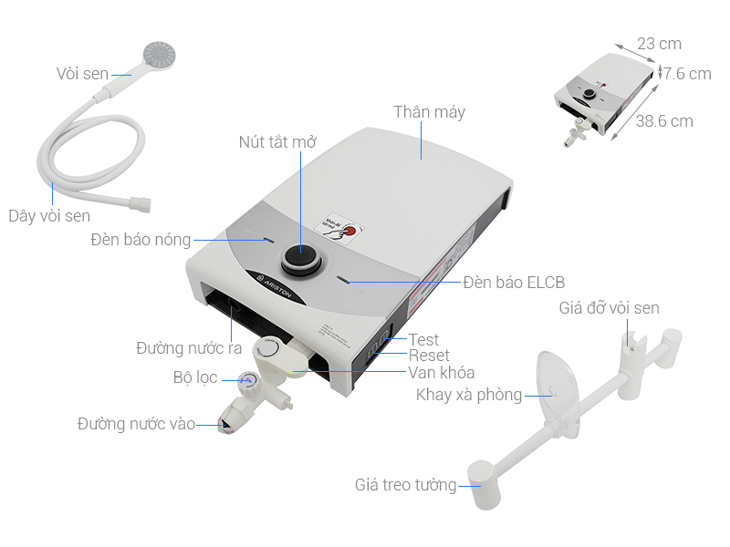 Thông số kỹ thuật Máy nước nóng Ariston SM45PE-VN