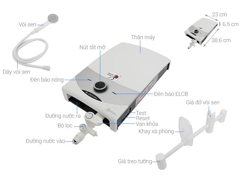 Thông số kỹ thuật Máy nước nóng Ariston SM45E-VN