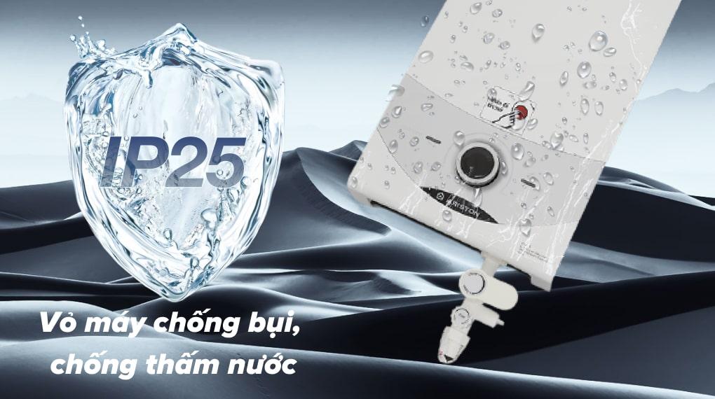 Lớp vỏ chống thấm IP25 - Máy nước nóng trực tiếp Ariston 4500W SM45E-VN