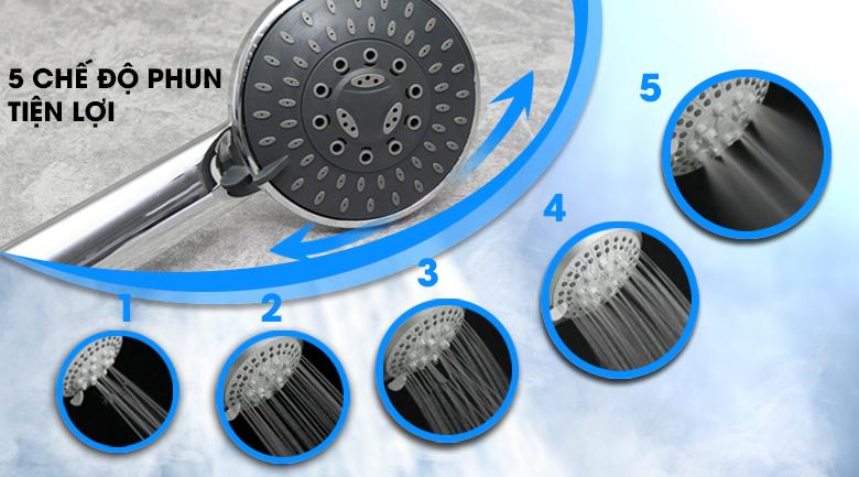 Vòi sen 5 kiểu phun - Máy nước nóng Ariston RMC45E-VN 4500W