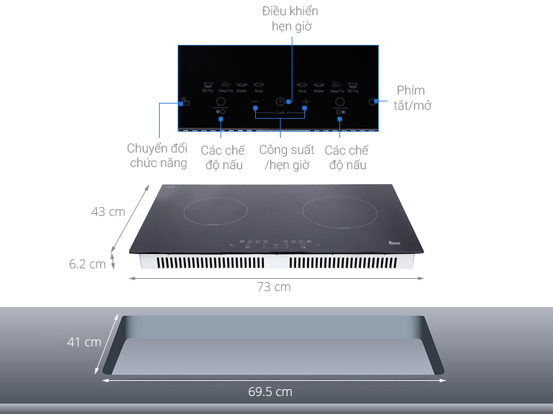 Thông số kỹ thuật Bếp từ đôi Teka IB 702