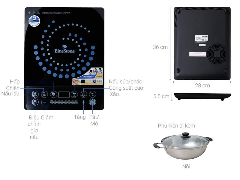 Thông số kỹ thuật Bếp từ BlueStone ICB-6608