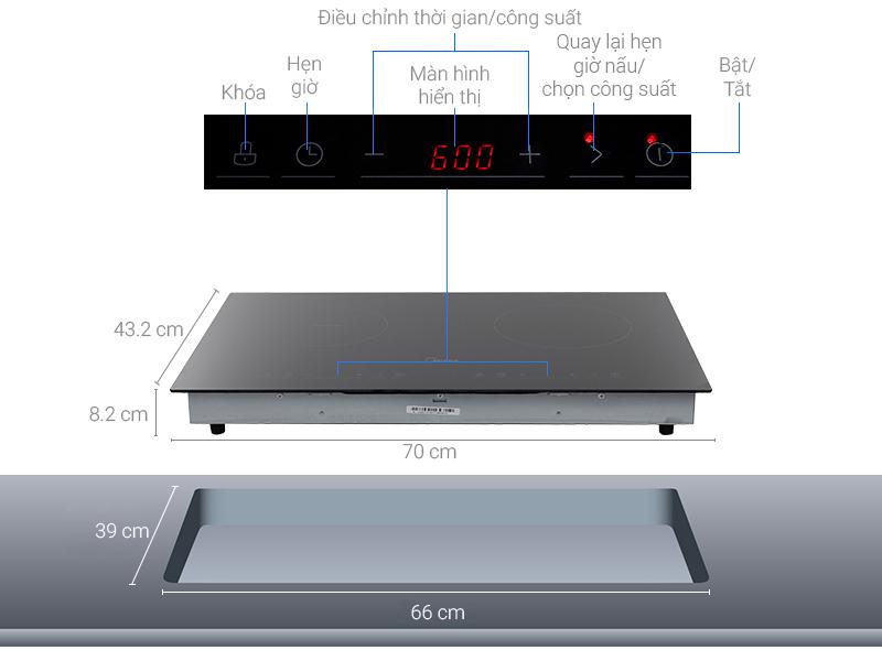 Thông số kỹ thuật Bếp từ hồng ngoại Midea MC-IHD361