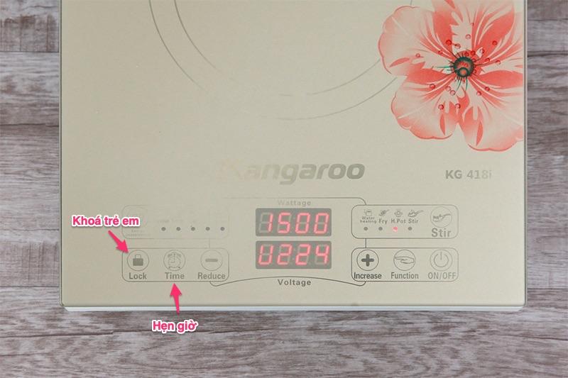 Bếp từ Kangaroo KG418I  - bảng điều hiển cảm ứng