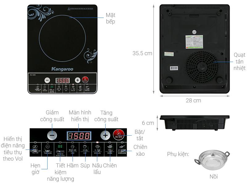 Thông số kỹ thuật Bếp từ Kangaroo KG420I