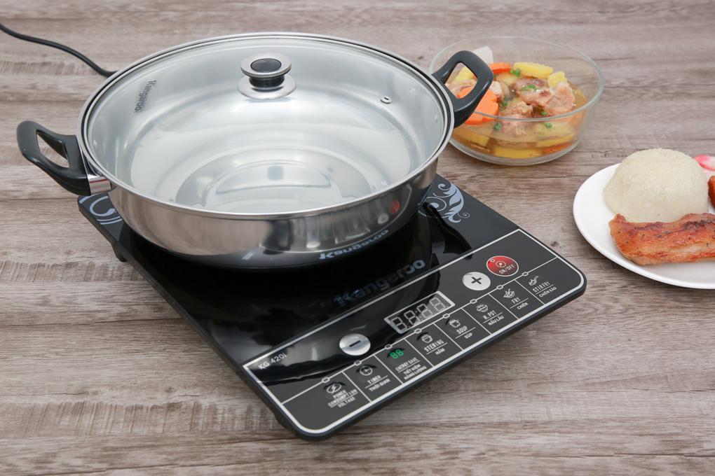 Chỉ sử dụng được nồi có đế nhiễm từ - Bếp từ Kangaroo KG420I