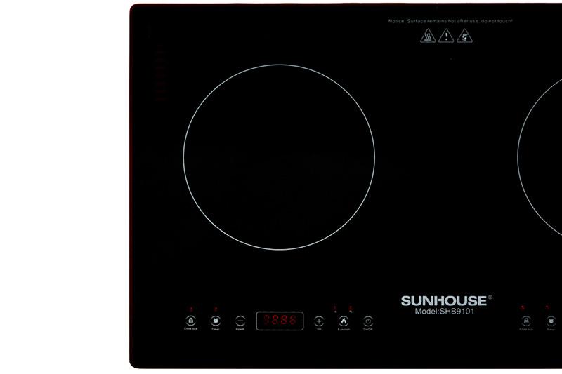 Dễ dùng - Bếp từ đôi Sunhouse SHB9101