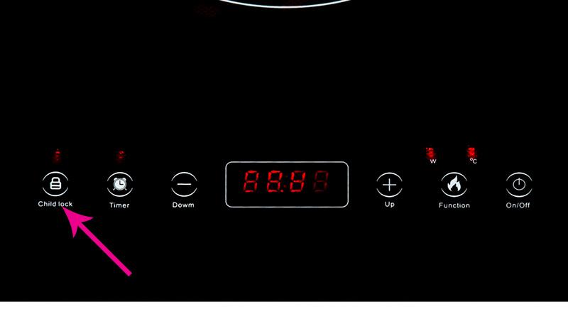 Khóa điều khiển - Bếp từ đôi Sunhouse SHB9101