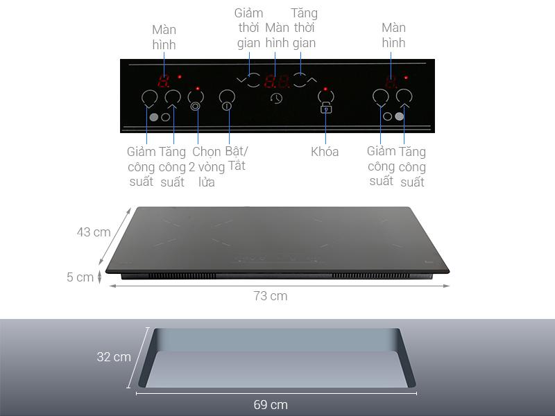 Thông số kỹ thuật Bếp từ hồng ngoại Teka IZ 7200 HL