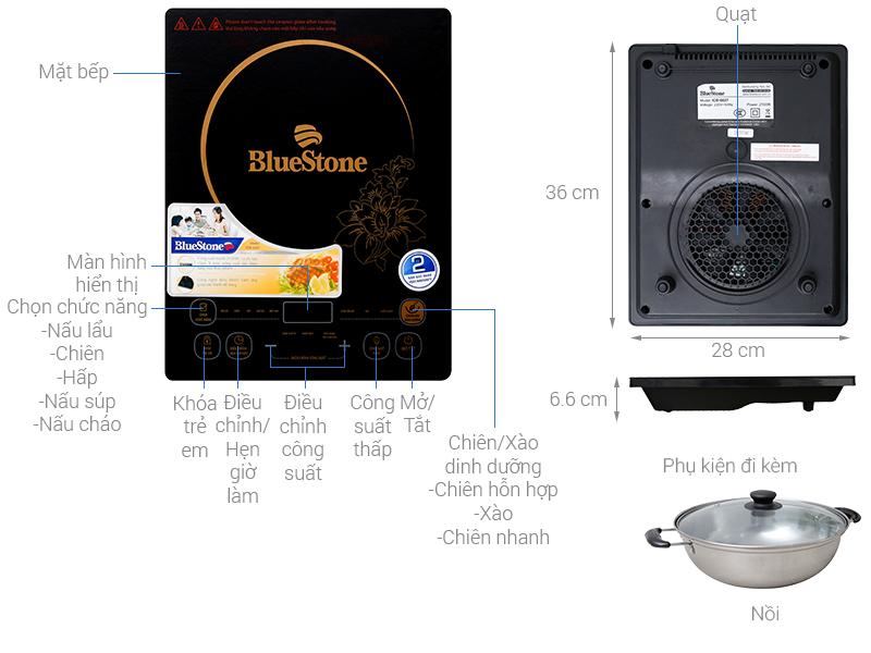 Thông số kỹ thuật Bếp từ BlueStone ICB-6627
