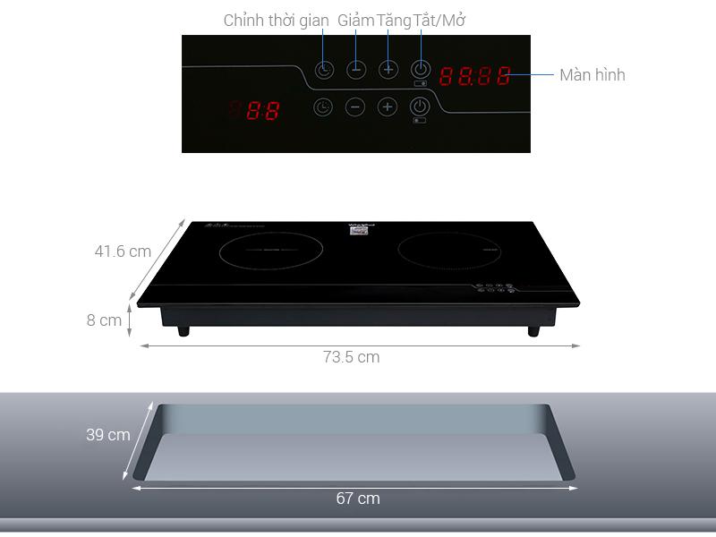 Thông số kỹ thuật Bếp từ hồng ngoại Whirlpool ACH7327-BLV