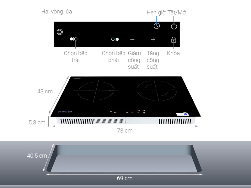 Thông số kỹ thuật Bếp từ hồng ngoại Malloca MH-7311IR