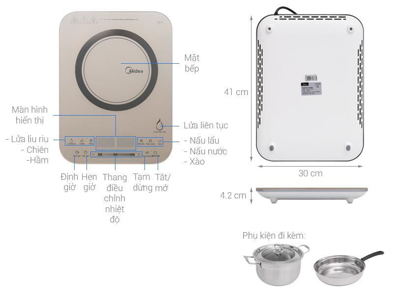 Thông số kỹ thuật Bếp từ Midea MI-T2117DA