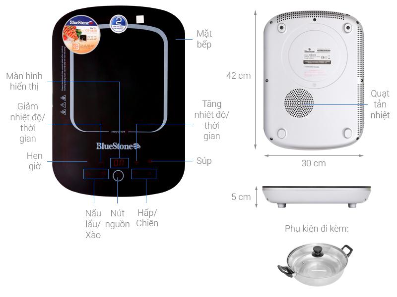 Thông số kỹ thuật Bếp từ BlueStone ICB-6658