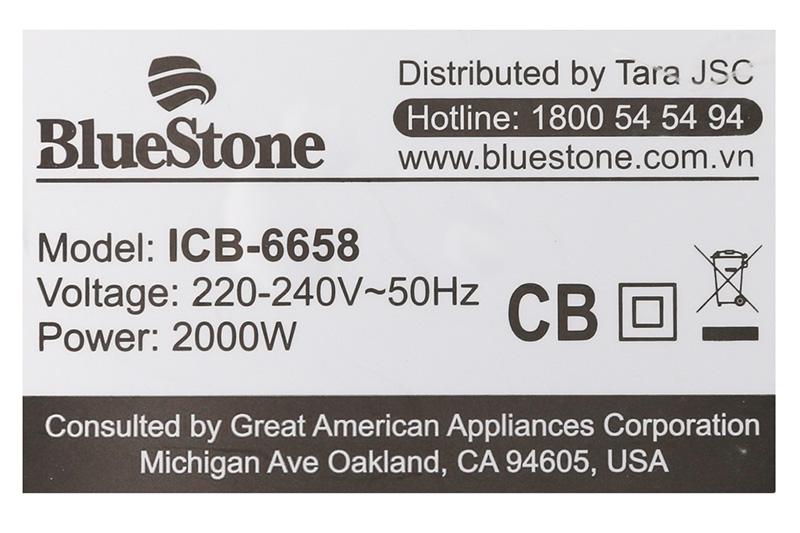 Công suất lớn - Bếp điện từ BlueStone ICB-6658