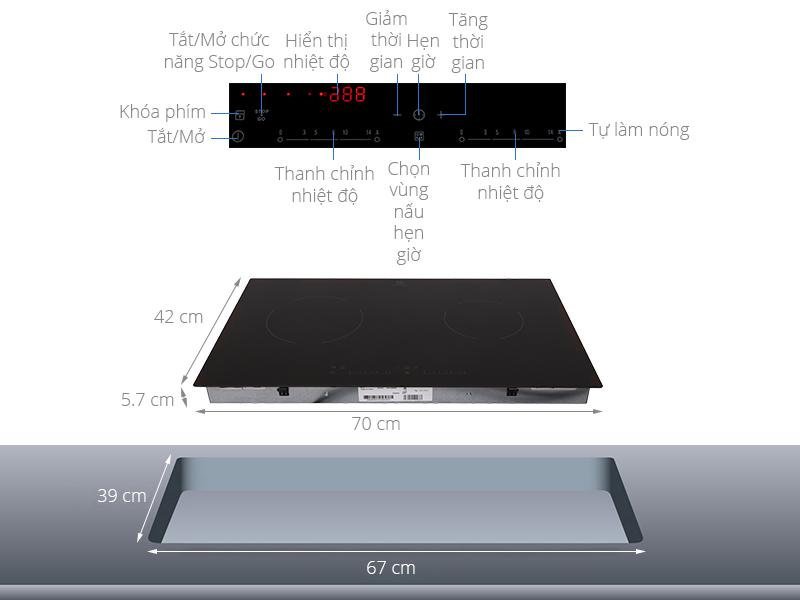 Thông số kỹ thuật Bếp hồng ngoại Electrolux EHC7240BA