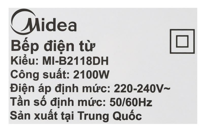 Bếp từ Midea MI-B2118DH