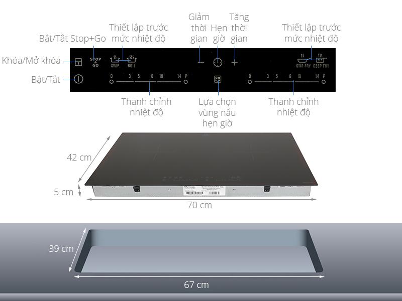 Thông số kỹ thuật Bếp từ đôi Electrolux EHI7280BA