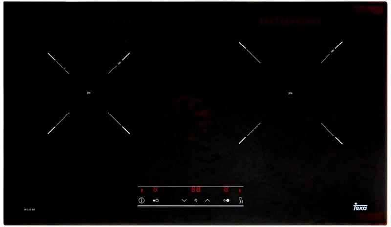 Mặt bếp bằng kính Schott Ceran bóng loáng - Bếp từ đôi TEKA IR 721 SR