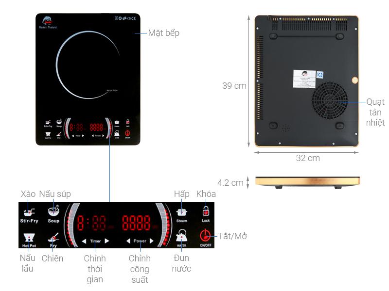 Thông số kỹ thuật Bếp từ Iruka I78