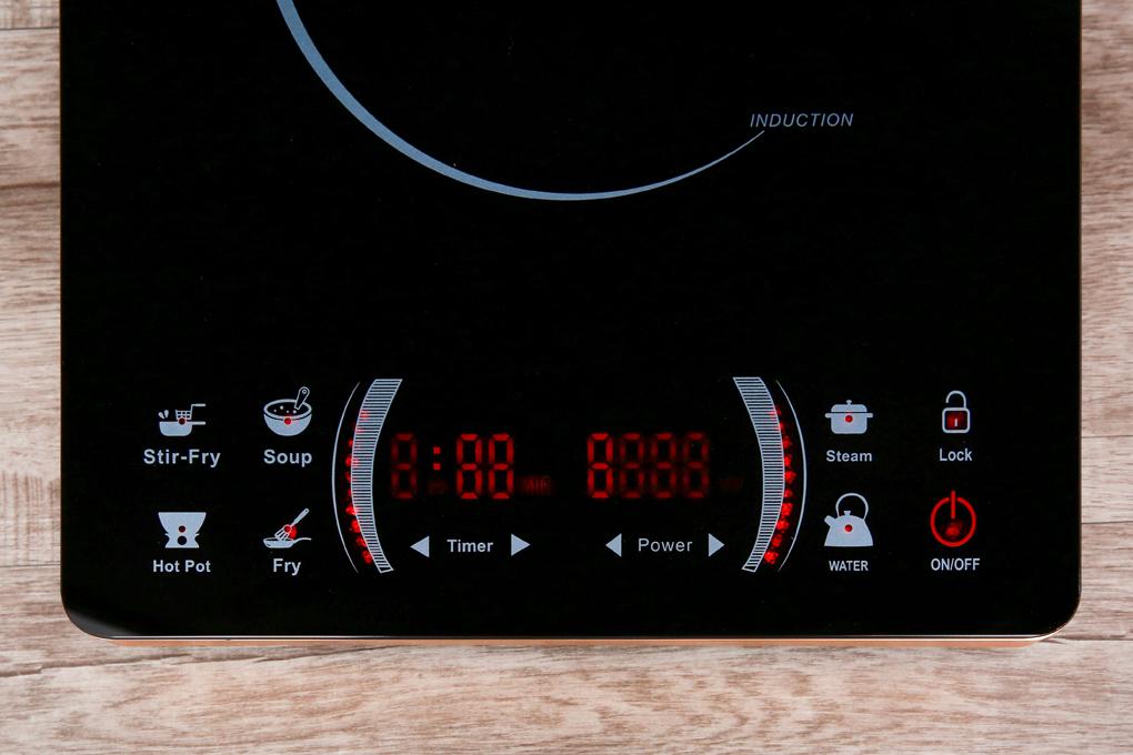 Bảng điều khiển cảm ứng kèm màn hình hiển thị rõ nét - Bếp từ Iruka I78