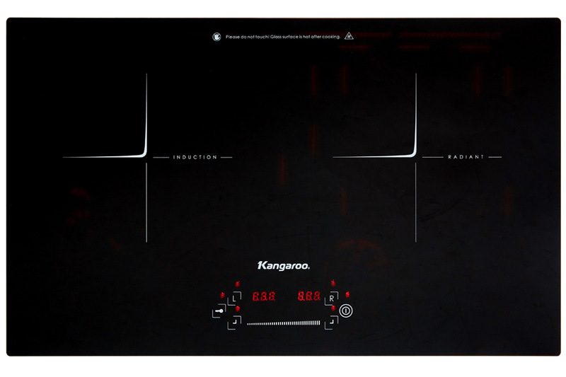 2 vùng nấu kết hợp tiện dụng - Bếp điện từ hồng ngoại Kangaroo KG443I