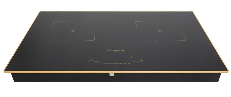 Thiết kế sang trọng, hiện đại, có 2 lò đun - Bếp từ đôi Kangaroo KG438I