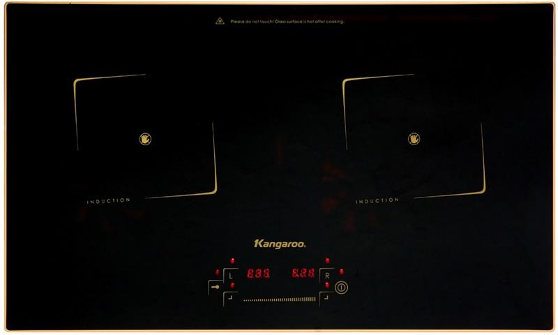 Mặt bếp từ bằng kính chịu nhiệt - Bếp từ đôi Kangaroo KG438I