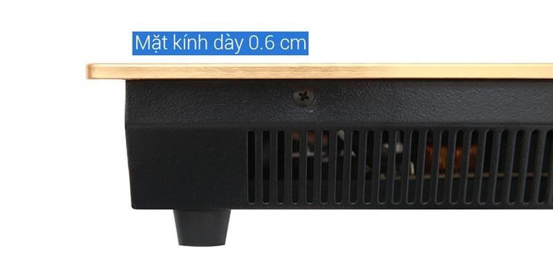 Mặt kính dày chỉ 0.6 cm - Bếp từ đôi Kangaroo KG438I