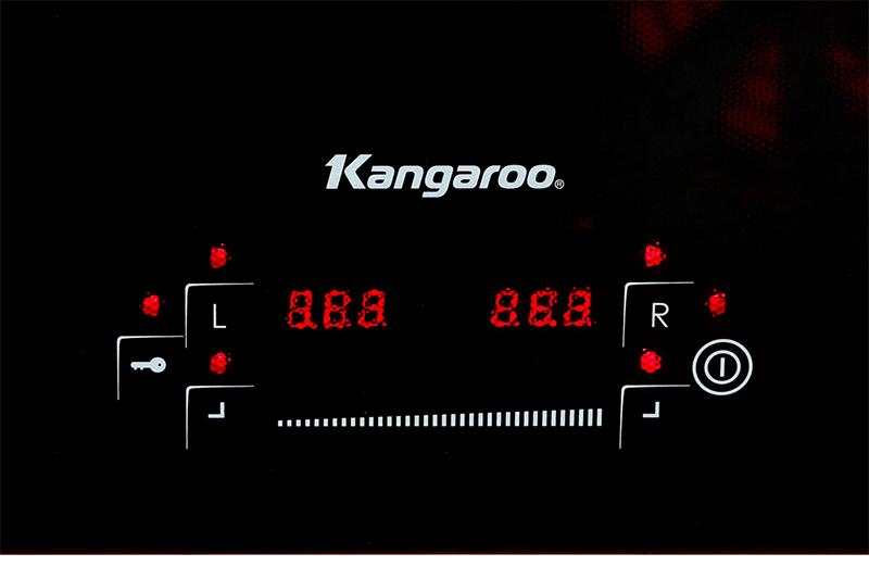 Bếp từ đôi Kangaroo KG435I - bảng điều khiển cảm ứng