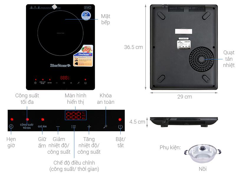 Thông số kỹ thuật Bếp từ BlueStone ICB-6728