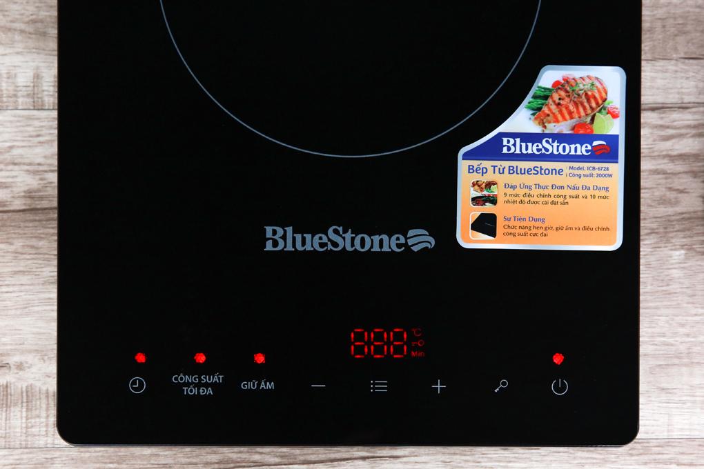 Bảng điều khiển cảm ứng kèm màn hình hiển thị sắc nét tiện theo dõi, tùy chỉnh - Bếp từ BlueStone ICB-6728