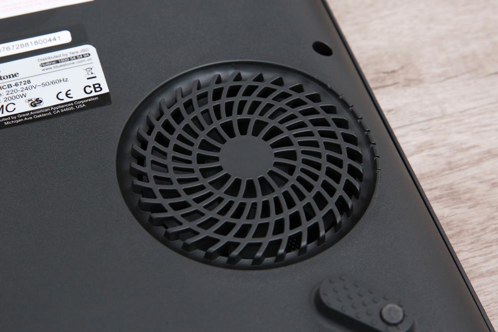 Quạt tản nhiệt thiết kế cỡ lớn cho hiệu suất làm mát bếp tối ưu - Bếp từ BlueStone ICB-6728