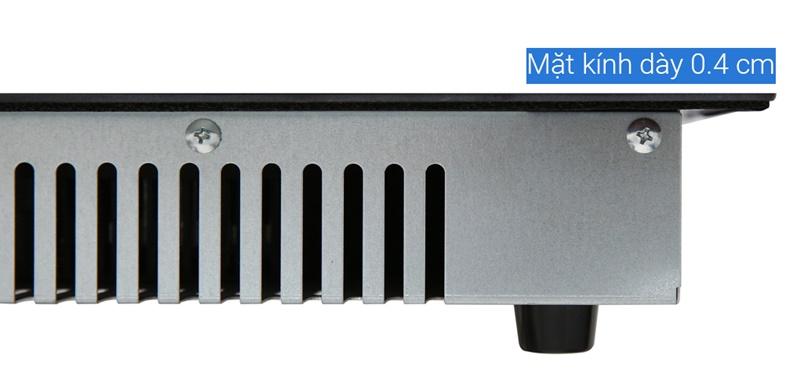 Có thể lắp đặt âm dễ dàng với mặt bếp siêu mỏng chỉ 0.4 cm - Bếp điện từ đôi Bluestone ICB-6831