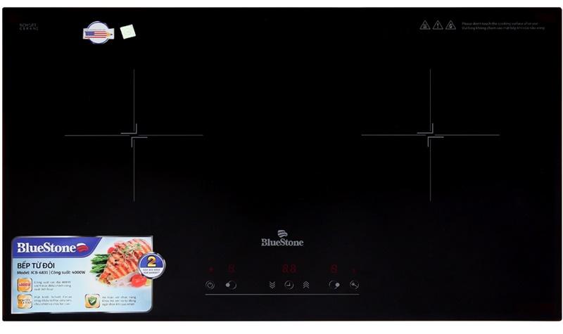 Mặt bếp từ bằng kính Schott Ceran xuất xứ từ Đức - Bếp điện từ đôi Bluestone ICB-6831