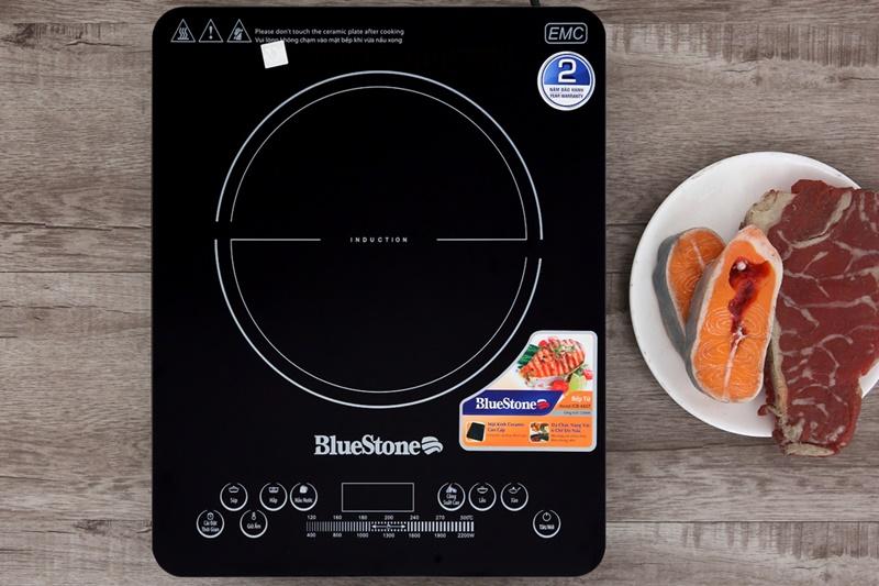 Mặt bếp từ Bluestone bằng kính Ceramic cao cấp bóng sáng - Bếp từ Bluestone ICB-6657