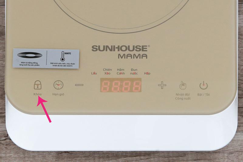 Khóa an toàn - Bếp từ Sunhouse Mama SHD6868